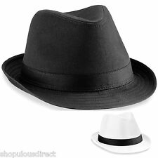 Fedora Hat with Band Stylish Trilby Style Gangster Fancy Dress Smart