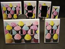 COLORFUL CUPCAKES   IMAGE 3  LIGHT SWITCH COVER PLATE OR OUTLET