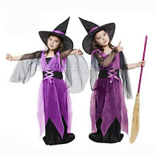 2015 New Halloween Costume Christmas Party Witch Dress Children Clothes+Hat