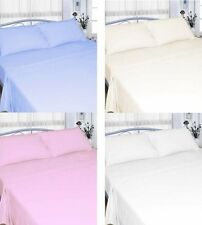 100% COTTON FLANNELETTE THERMAL WINTER WARM SHEETS WHITE / CREAM PILLOWCASES