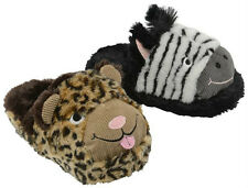 WOMENS FUR LINED WARM WINTER DUNLOP CREATURES NOVELTY ANIMAL COSY SLIPPERS SIZES