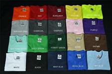 6 NEW PROCLUB S-5XL HEAVY WEIGHT T-SHIRTS PLAIN TEE PRO CLUB COLOR BLANK 6PC