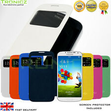 SVIEW Window Flip Cover Case for Samsung Galaxy S4 i9500 with FREE Protector