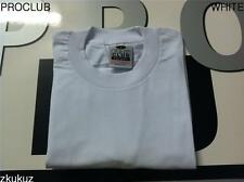 2 NEW PROCLUB HEAVY WEIGHT T-SHIRT WHITE PLAIN PRO CLUB BLANK S-7XL 2PC