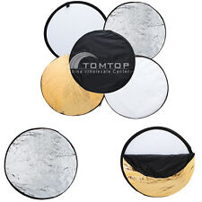 "24"" 60cm/32"" 80cm/43"" 110cm 5 in 1 Studio Photo Collapsible Light Reflector"
