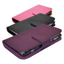 PU Leather Wallet Book Flip Protective Case Cover Fits Nokia Lumia 800 Phone