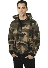 URBAN CLASSICS CAMO ZIP HOODY JACKET CAMOUFLAGE HOODIE MILITARY ARMY
