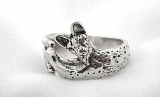 Serval Cat Ring in Sterling Silver Fazio's Exclusive Cat Lovers Jewelry Gifts