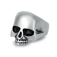 Fashion Stainless Steel Silver Mens Punk Biker Skull Ring US Size 7 8 9 10 11 12