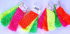 1.5 inch CROCHET HEADBANDS for GERBER daisy OR hair bow NEON BRIGHT trendy SALE
