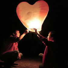 20pcs New Colorful Heart-shaped Chinese Fire Paper Sky Lanterns for Wedding