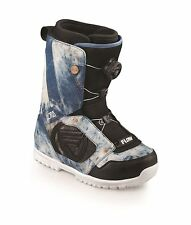 New Flow Lotus Boa Coiler Denim Womens All Mountain Snowboard Boots 2013 Ret$200
