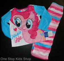 MY LITTLE PONY Girls 24 2T 3T 4T 5T Pjs Set FLEECE PAJAMAS Shirt MLP Pinkie Pie