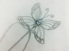 Bridesmaid Large Butterfly Wand in Silver - Fairy Princess Flower