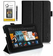 GENUINE INVENTCASE® LEATHER CASE SLIM SMART COVER STAND FOR KINDLE FIRE HDX 7""