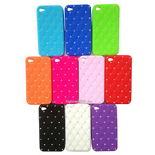 1pc Bling Crystal Diamond Soft Gel Silicone Case Cover Skin For iPhone 4 4G 4S