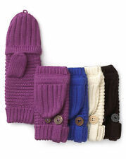 Ugg Gloves Pop Top Knit Mittens Fingerless Great Jones New 'Pick Color'