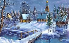 winter wonderland snow covered winter Holiday LIGHT SWITCH PLATE home decor