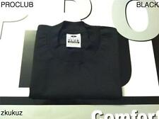 6 NEW PROCLUB HEAVY WEIGHT T-SHIRT BLACK PLAIN PRO CLUB BLANK S-7XL 6PC