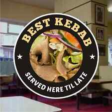 Best Kebab Doner Meat Catering Sign Window Restaurant Stickers Graphics Decal