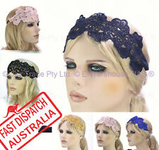 20s Great Gatsby Party Costume Head Piece Hair Band Flapper Lace Headband
