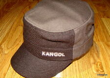 Kangol  Headwear  Wool  Flexfit  Textured  Army  Cap  Color  Tobacco Brown