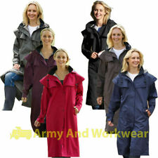 Ladies Long Full Length Waterproof Riding Rain Jacket Country Coat with Cape Wow