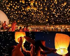50pc Wishing Lantern Chinese Paper Sky Floating Wedding Birthday Party Lamp Cool