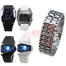 Fashion Smart Digital Sport Mens & Ladies LED Wrist Watch Unisex Turbo Stealth