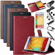 Luxury Leather Flip Wallet Stand Case Cover For Samsung Galaxy Note 3 III N9000