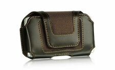 New Brown Horizontal Leather Belt Clip Pouch Holster Carry Case for Cell Phones