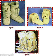 Native American Shoshone Indian Moccasin in 3 Simple Styles Sewing Pattern