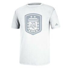 adidas Argentina World Cup WC 2014 Soccer Federation Badge Fan Shirt New White