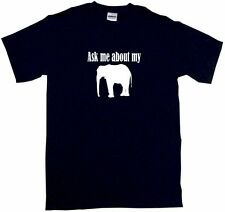 Ask Me About My Elephant Mens Tee Shirt Pick Size & Color Small - 6XL