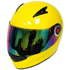 New Youth Kids Motorcycle ATV Dirt Bike Full Face Helmet Glossy Yellow S M L XL