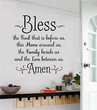 Bless The Food Before Us Wall Decals Vinyl Sticker Words Letters Art Home Decor