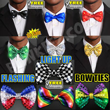Light Up LED Flashing Blinking Bow Ties -Choose Your Color Bowtie! FREE SHIPPING