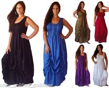 u pick color & size  dress maxi 2 layers no sleeve smocked lacing stunning