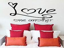 Love One Another, Wall Art Sticker Quote Transfer Graphic Decoration