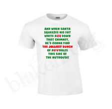 & WHEN SANTA SQUEEZES HIS Christmas Vacation - Funny Adult T-SHIRT TEE SHIRT NEW