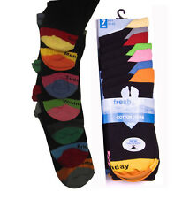 T48 NEW Mens 7pairs DAYS OF THE WEEK COTTON SOCKS XMAS GIFT STOCKING FILLER 6-11