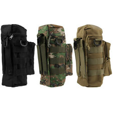 Outdoor Game Molle Military Tactical Nylon Zipper Water Bottle Bag Kettle Pack