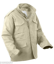 field jacket m-65 with removable liner khaki military style rothco 8254