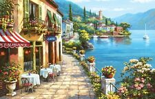 italy  landscape scene cafe unique Poster wall art  PERSONALIZE FREE