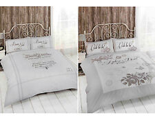 FRENCH SHABBY CHIC DUVET COVER - Luxury Natural Beige Grey Bedding Bed Set