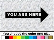 Arrow Pointing Right YOU ARE HERE Vinyl Decal Sticker Bumper Business Door Map
