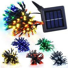 Solar Power 60 100 LED String Fairy Lights Xmas Party Garden Lawm Outdoor Decor