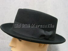 mens porkpie breaking bad Walter White Heisenberg style black felt hat size M-XL