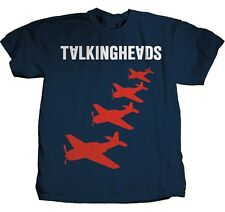 AUTHENTIC TALKING HEADS PLANES LOGO BYRNE MUSIC SLIM FIT TEE T SHIRT S-XL