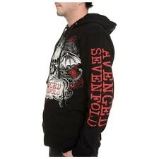 OFFICIALLY LICENSED AVENGED SEVENFOLD ORNATE SKULL ZIP HOODIE SWEAT SHIRT S-3XL